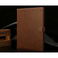 Кожаный винтажный чехол подставка с магнитной застежкой для планшета Ipad Mini 4 Бежевый