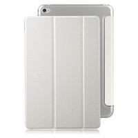 Текстурный чехол флип подставка сегментарный на пластиковой полупрозрачной основе для Ipad Mini 4 Белый
