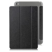 Текстурный чехол флип подставка сегментарный на пластиковой полупрозрачной основе для Ipad Mini 4 Черный