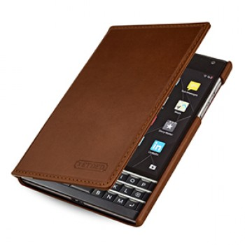 Кожаный чехол портмоне (премиум нат. винтажная вощеная кожа) для Blackberry Passport