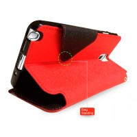 Дизайнерский чехол-флип с магнитной заклепкой для LG Optimus G Pro Красный