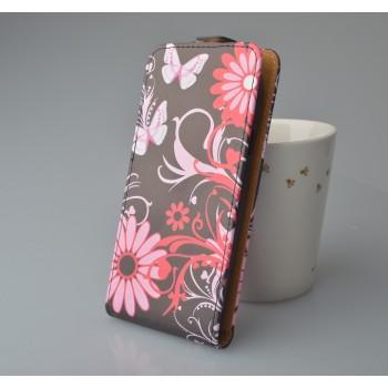 Чехол вертикальная книжка на пластиковой основе с полноповерхностным принтом и магнитной застежкой для Fly IQ4501 EVO Energie 4 Quad