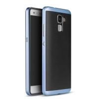 Двухкомпонентный чехол с поликарбонатным бампером и силиконовой накладкой для Huawei Honor 7 Синий