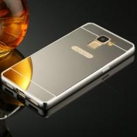 Двухкомпонентный чехол с металлическим бампером и поликарбонатной крышкой с зеркальным покрытием для Huawei Honor 7 Серый
