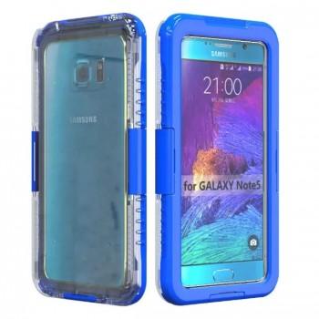 Двухмодульный силиконовый пылеводонепроницаемый IP68 ударостойкий чехол с активной крышкой для Samsung Galaxy Note 5