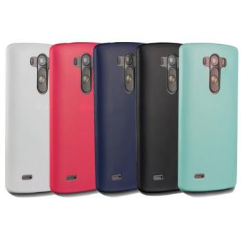 Силиконовый матовый нанотонкий 0.39 мм чехол для LG G3 (Dual-LTE)