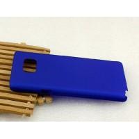 Пластиковый матовый металлик чехол для Samsung Galaxy Note 5 Синий