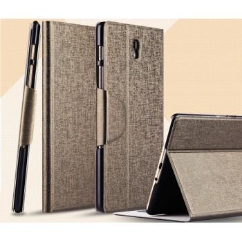 Чехол подставка на пластиковой основе со слотом для карт и застежкой текстурный Silk для Samsung Galaxy Tab S 8.4