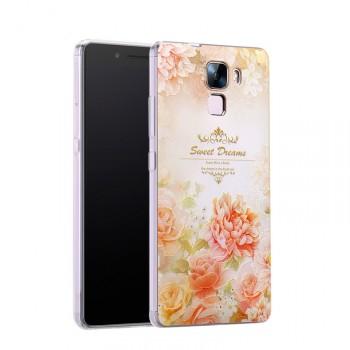 Силиконовый дизайнерский чехол с принтом для Huawei Honor 7