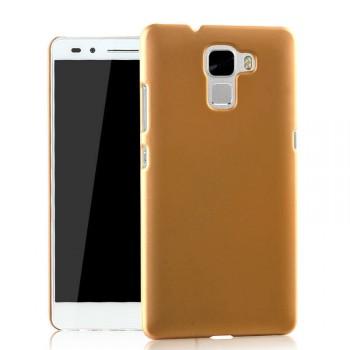 Пластиковый матовый металлик чехол для Huawei Honor 7