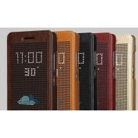 Кожаный точечный чехол смарт флип с функциями оповещения для Huawei Honor 7