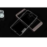 Силиконовый матовый полупрозрачный чехол повышенной ударостойкости для Huawei Honor 7 Серый