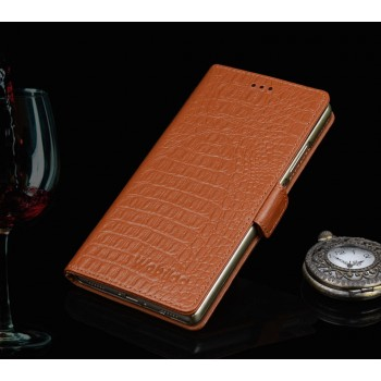Кожаный чехол портмоне (нат. кожа крокодила) подставка для Huawei Honor 7