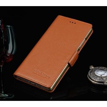 Кожаный чехол портмоне (нат. кожа) подставка для Huawei Honor 7