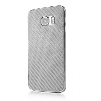 Армированная карбоновая защитная пленка на заднюю поверхность смартфона для Samsung Galaxy S6 Edge