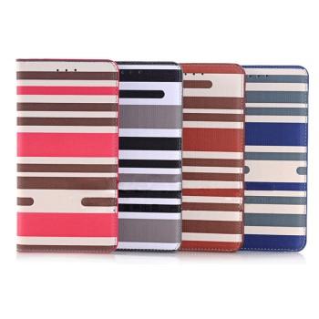 Чехол портмоне подставка на пластиковой основе с полноповерхностным принтом Полосы для Samsung Galaxy Note 5