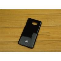 Силиконовый глянцевый непрозрачный чехол повышенной жесткости для Samsung Galaxy Note 5 Черный