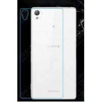 Ультратонкое износоустойчивое сколостойкое олеофобное защитное стекло-пленка на заднюю поверхность смартфона для Sony Xperia Z3