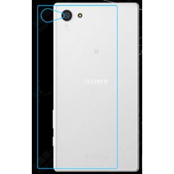 Ультратонкое износоустойчивое сколостойкое олеофобное защитное стекло-пленка на заднюю поверхность смартфона для Sony Xperia Z5 Compact