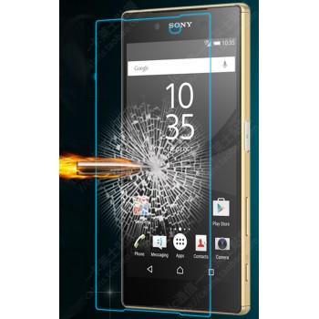 Ультратонкое износоустойчивое сколостойкое олеофобное защитное стекло-пленка для Sony Xperia Z5