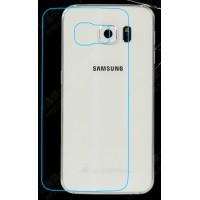 Ультратонкое износоустойчивое сколостойкое олеофобное защитное стекло-пленка на заднюю поверхность смартфона для Samsung Galaxy S6