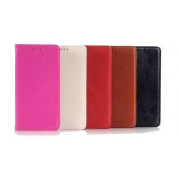Вощеный чехол флип подставка с внутренним карманом на пластиковой основе для Samsung Galaxy Note 5