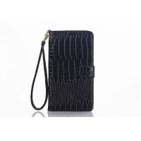 Глянцевый чехол портмоне подставка с магнитной защелкой текстура Крокодил для Samsung Galaxy Note 5 Коричневый