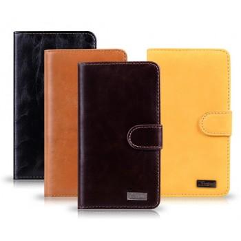 Вощеный чехол портмоне для Nokia Lumia 820