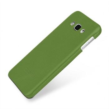 Кожаный чехол накладка (нат. кожа) серия Back Cover для Samsung Galaxy A8