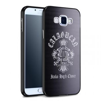 Гибридный металлический двухкомпонентный чехол с поликарбонатной крышкой с объемно-рельефным принтом для Samsung Galaxy A8
