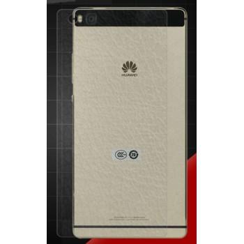 Ультратонкое износоустойчивое сколостойкое олеофобное защитное стекло-пленка на заднюю поверхность смартфона для Huawei P8