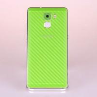 Защитная карбоновая пленка на заднюю поверхность для Huawei Honor 7 Зеленый