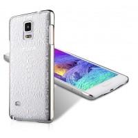 Пластиковый матовый дизайнерский чехол с объемно-рельефным принтом для Samsung Galaxy Note 4