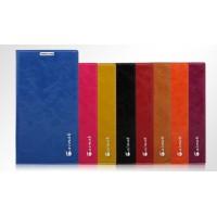 Кожаный чехол горизонтальная книжка подставка на присосках для Samsung Galaxy A8