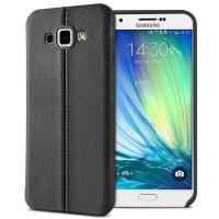 Силиконовый матовый непрозрачный чехол текстура Кожаный шов для Samsung Galaxy A8