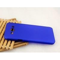 Пластиковый матовый металлик чехол для Samsung Galaxy A8 Синий