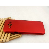 Пластиковый матовый металлик чехол для Samsung Galaxy A8 Красный