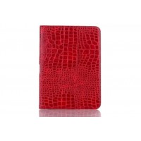 Чехол подставка крокодил для Samsung Galaxy Tab 4 10.1 Красный