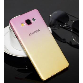 Силиконовый градиентный полупрозрачный чехол для Samsung Galaxy A8