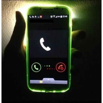 Силиконовый матовый чехол со светорассеивающим эффектом (необходима активация вспышки при звонке) для Samsung Galaxy A8