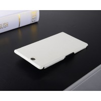 Кожаный чехол накладка Back Cover для Sony Xperia Z Ultra Белый