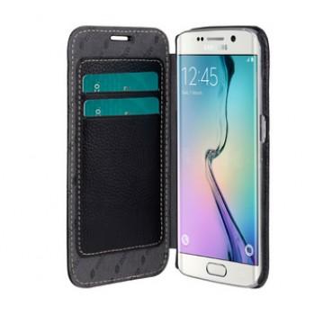 Кожаный чехол горизонтальная книжка с отделением для карт для Samsung Galaxy S6 Edge