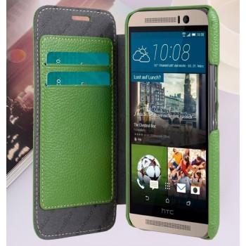 Кожаный чехол горизонтальная книжка с отделением для карт для HTC One M9