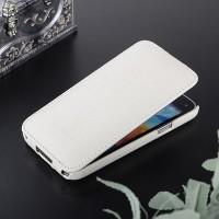 Кожаный чехол вертикальная книжка с защёлкой для Samsung Galaxy S5 Mini Белый