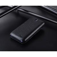 Кожаный чехол вертикальная книжка с защёлкой для HTC Desire 310 Черный