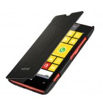 Кожаный чехол горизонтальная книжка для Nokia Lumia 520