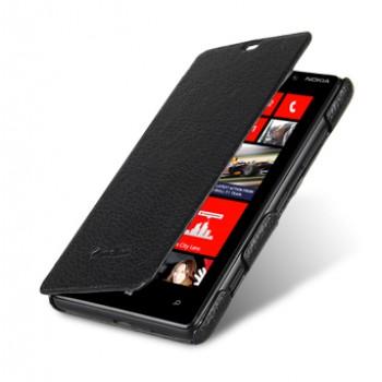 Кожаный чехол горизонтальная книжка для Nokia Lumia 820
