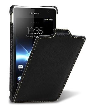 Кожаный чехол вертикальная книжка с защёлкой для Sony Xperia TX