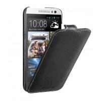 Кожаный чехол вертикальная книжка с защёлкой для HTC Desire 616