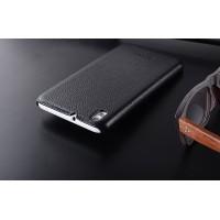 Кожаный чехол накладка Back Cover для HTC Desire 816 Черный